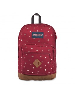 JanSport City View Remix Backpack Viking Red Golden Stars