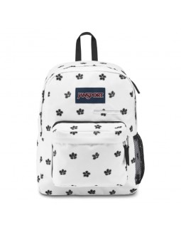 JanSport Digibreak Laptop Backpack White Cherry Blossom