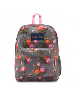 JanSport Digibreak Laptop Backpack Sunrise Bouquet Grey