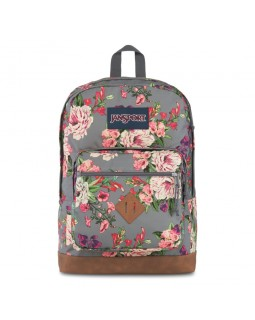 JanSport City View Backpack Grey Bouquet