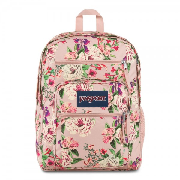 JanSport Big Student Backpack Pink Bouquet Floral