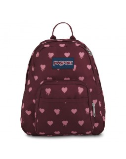 JanSport Half Pint Mini Backpack Russet Red Bleeding Hearts