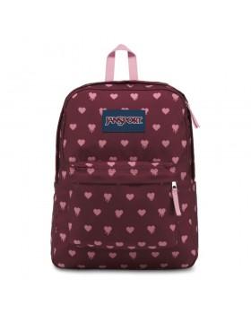 JanSport Superbreak Backpack Russet Red Bleeding Hearts
