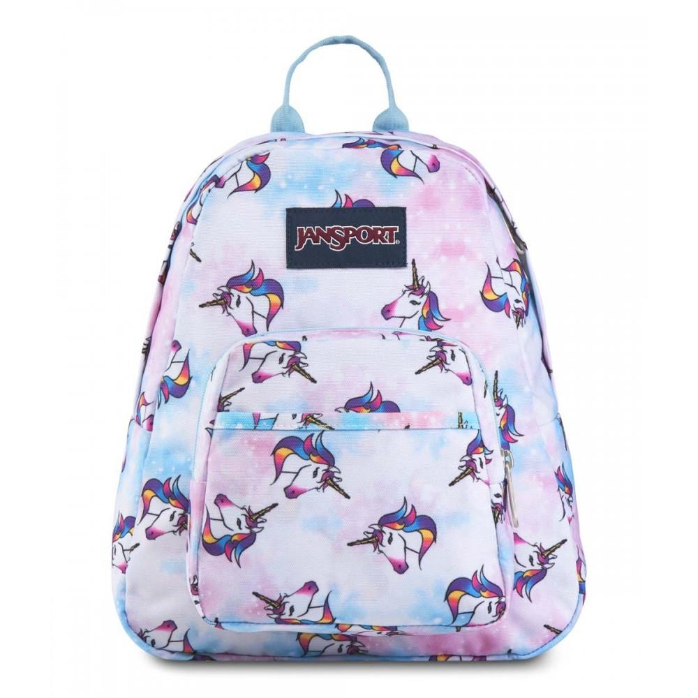 JanSport Half Pint Mini Backpack Unicorn Clouds