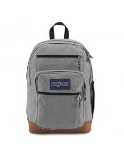 JanSport Cool Student Backpack Grey Letterman Poly