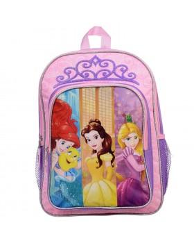 "Disney Princesses Belle, Ariel & Rapunzel School Backpack 15.5"" Full Size"