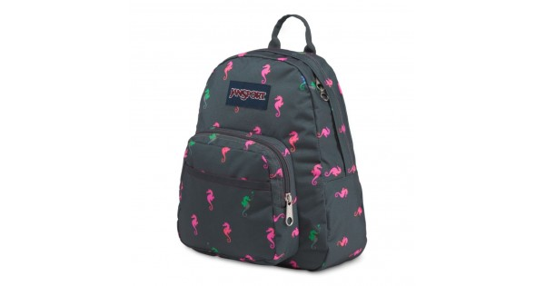 JanSport Half Pint Mini Backpack Dark Slate Seahorse • Daypacks • Handbags  Vogue aac9b22eb5