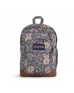 JanSport Cool Student Backpack Boho Floral Graphite Grey