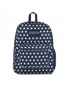 JanSport Hyperbreak Backpack Dark Denim Polka Dot