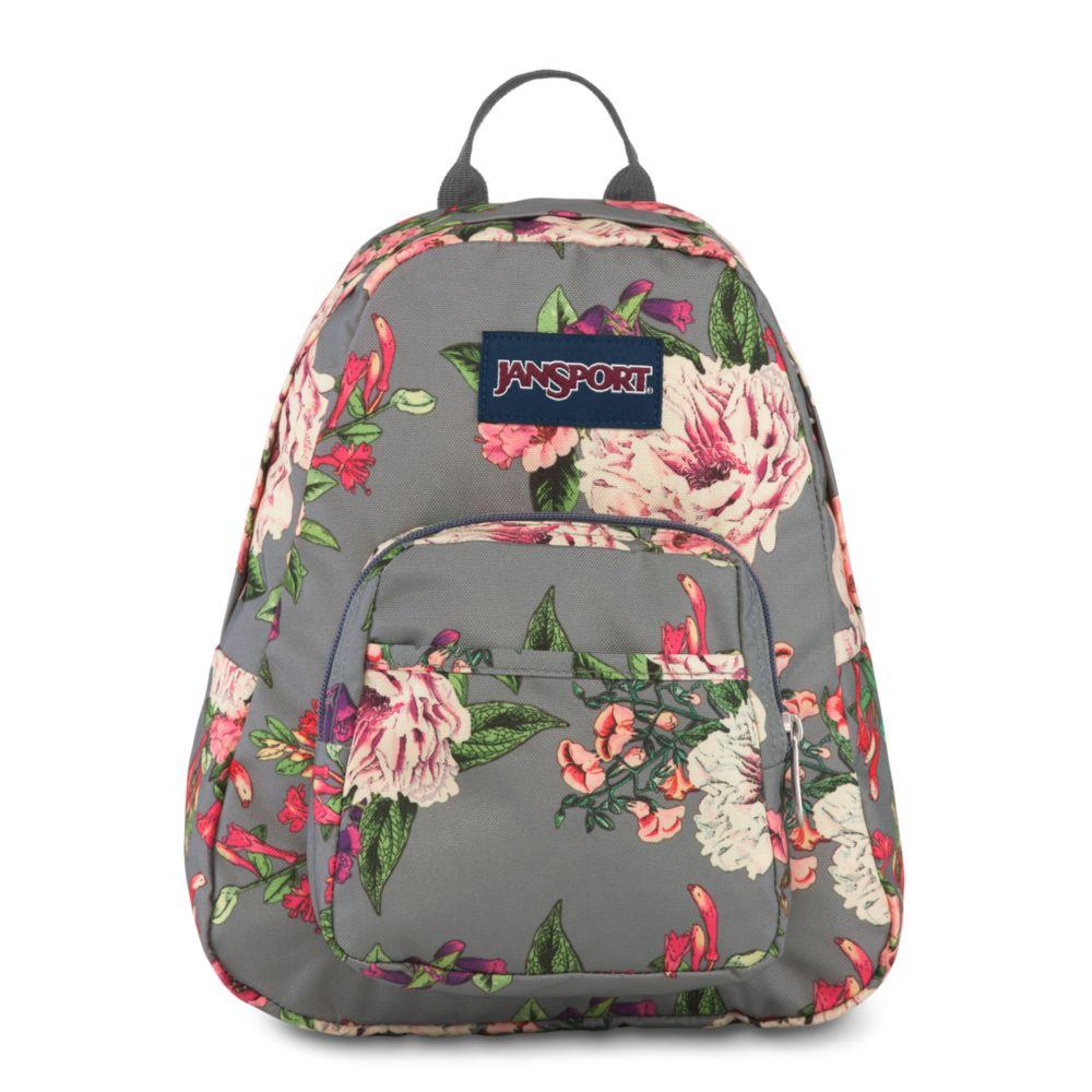 JanSport Half Pint Mini Backpack Grey Bouquet Floral