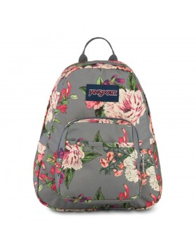 JanSport Half Pint Mini Backpack Grey Bouquet Floral
