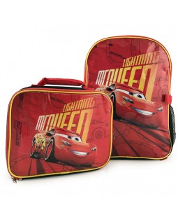 Disney Pixar Cars 3 Lightning McQueen Backpack with Detachable Insulated Lunch Kit 15'' Full Size