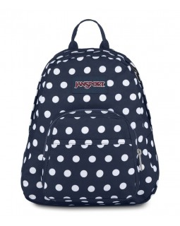 JanSport Half Pint Mini Backpack Dark Denim Polka Dot