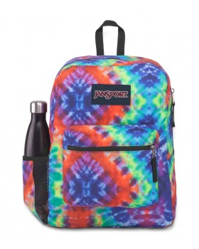 JanSport Cross Town Backpack Red/Multi Hippie Days