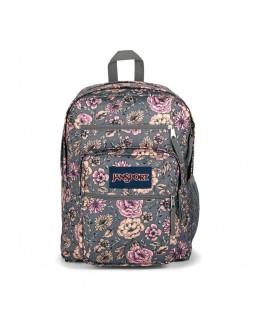 JanSport Big Student Backpack Boho Floral Graphite Grey