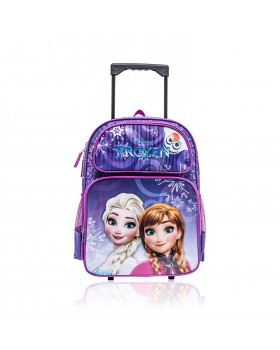 """Disney Frozen Elsa and Anna Wheeled Backpack with Retractable Handle 16"""" Full Size"""