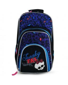 Mattel Monster High Freaky Fab Deluxe Backpack School Bag Black / Purple
