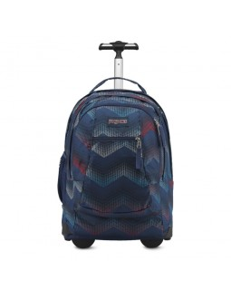 JanSport Driver 8 Rolling Backpack Matrix Chevron Navy