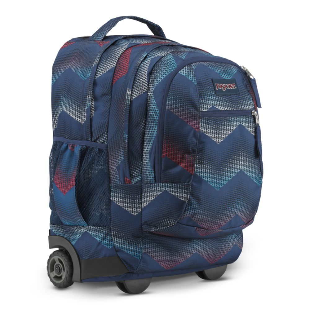 d698dda52fed JanSport Driver 8 Rolling Backpack Matrix Chevron Navy • Backpacks ...