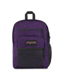 JanSport Big Campus Backpack Purple Leopard Life