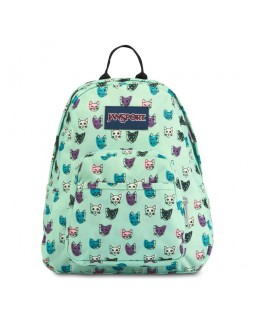 JanSport Half Pint Mini Backpack Brook Green Cool Cats