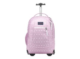 JanSport Driver 8 Rolling Backpack Mauve Mist Dot Swell