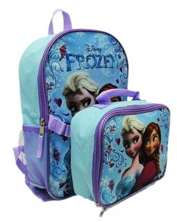 539a81784749 Disney Frozen Anna Elsa Backpack with Detachable Insulate Lunch Kit 15   Full  Size