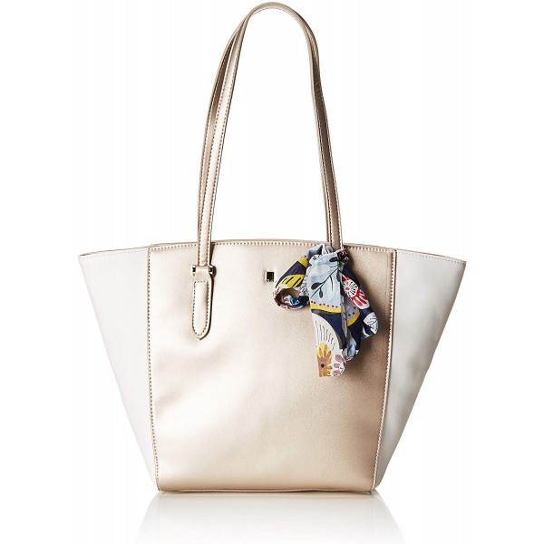 David Jones Paris Tote Handbag White Gold