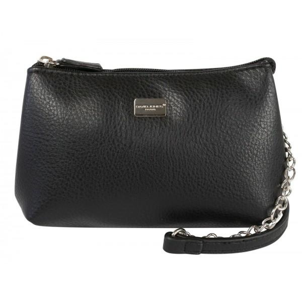 David Jones Paris Double Compartment Shoulder Handbag Black