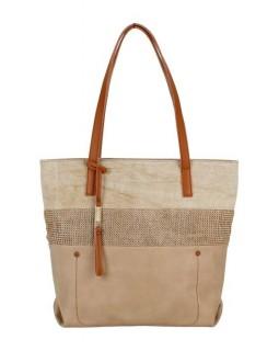 KGB Shoulder Handbag Sheila Naturel