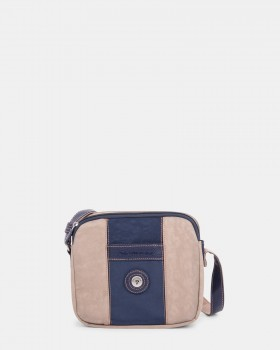 Mouflon Bicolor Crossbody Bag Navy / Taupe