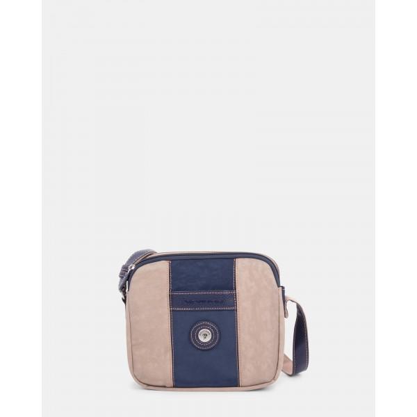 Mouflon Bicolor Crossbody Bag Navy / Taupe