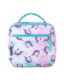 JanSport Lunch Break Box Bag Unicorn Clouds