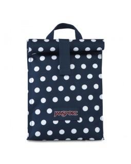 Jansport Rolltop Lunch Bag Dark Denim Polka Dot
