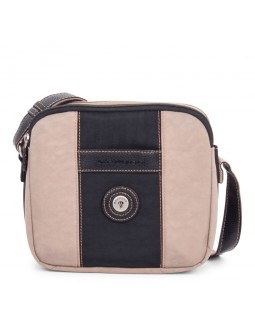 Mouflon Bicolor Crossbody Bag Black / Taupe