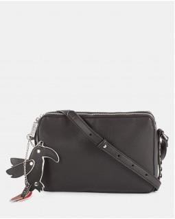 Joanel Parrot Pink Crossbody Bag Black