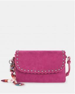 Joanel Pixie Flap Crossbody Bag Fushia