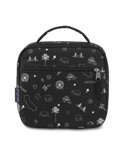 JanSport Lunch Break Box Bag California Icons