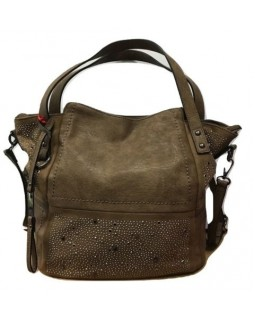 KGB Studio Beaded Shoulder Bag Convertable Crossbody Alex Taupe