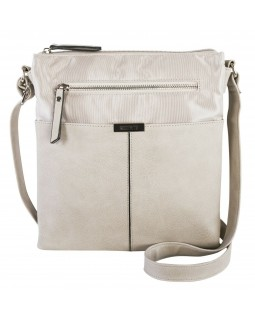 Roots 73 Dual Compartment Crossbody Handbag With PU trim Stone