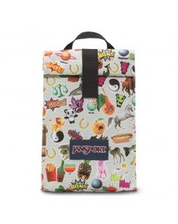 Jansport Rolltop Luch Bag Multi Stickers