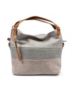 KGB Shoulder Handbag Alisia Convertable Crossbody Grey Multi