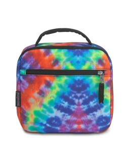 JanSport Lunch Break Box Bag Red/Multi Hippie Days