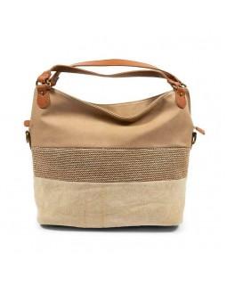 KGB Shoulder Handbag Alisia Convertable Crossbody Naturel Multi