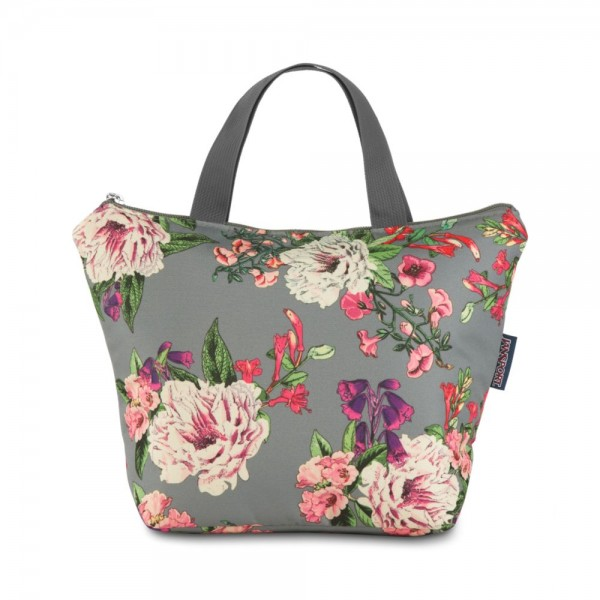 JanSport Lunch Tote Grey Bouquet Floral