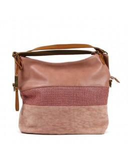 KGB Shoulder Handbag Alisia Convertable Crossbody Rose Pink