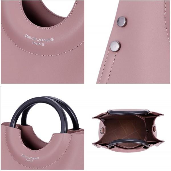 David Jones Handbag Satchel Convertable Crossbody Dusty Rose