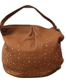 KGB Black Label Hobo Leather Handbag