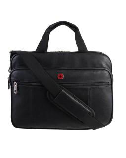 "Swiss Gear Faux Leather Top Load 15.6"" Portfolio"