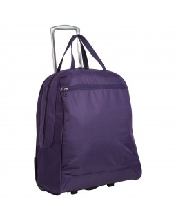 "Rosetti 17"" Wheeled Tote Bag Shopper Purple"